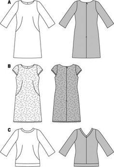 Patroon met jurk en shirt