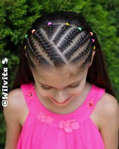 quick and easy braided hairstyles with weave Cornrow Hairstyles White, Little Girl Braid Hairstyles, Little Girl Braids, Baby Girl Hairstyles, Trendy Hairstyles, Hairstyles Videos, Cornrows For Girls, Braids For Kids, Girls Braids