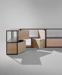 New Order l'étagère modulable par Stefan Diez par HAY