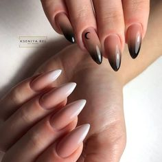 Almond Acrylic Nails, Fall Acrylic Nails, Nail Swag, Oval Nails, Pink Nails, Witchy Nails, Bright Nail Designs, Tapered Square Nails, Moon Nails