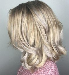 golden blonde hair with silver highlights