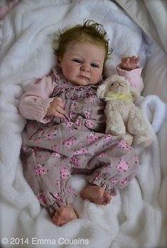 **EMMA ROSE ARTISTRY** Adorable Reborn Fake baby girl - Sera - SO LIFELIKE!