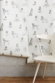 This wallpaper is a must have for all dog lovers! A Dog's Life Wallpaper adds a playful touch to any room. - Tap the pin for the most adorable pawtastic fur baby apparel! You'll love the dog clothes and cat clothes! Unique Wallpaper, Dog Wallpaper, Wallpaper Ideas, Eclectic Wallpaper, Minimal Wallpaper, Wallpaper Designs, Nursery Wallpaper, Perfect Wallpaper, Dog Room Decor