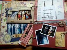 "Scrapbooking ""Germany 2006 travel mini album - Button Farm Kit Club"""