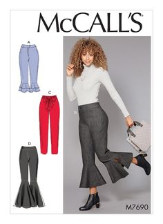 Butterick Sewing Pattern 5682 Misses/' Jeans /& Trousers Assorted Styles FF 16-22