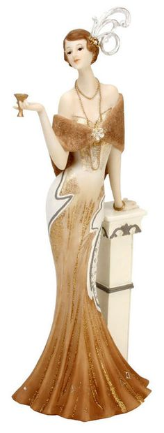 Chicago Classix Lady Figurine Leaning on Pillar Mona. Goldscheider, Elegant Chic, Elegant Woman, Love Fashion, Luxury Fashion, Mannequin Art, Beautiful Figure, Art Deco Furniture, Art Deco Design