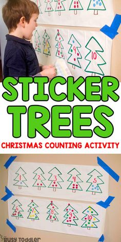Sticker Trees Christmas Counting Activity