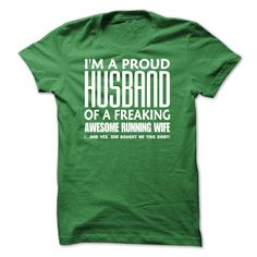 Proud Husband Of A Running Wife T-Shirts, Hoodies. CHECK PRICE ==► https://www.sunfrog.com/LifeStyle/Im-A-Pround-Husband-Of-A-Running-Wife--0515-63812639-Guys.html?id=41382