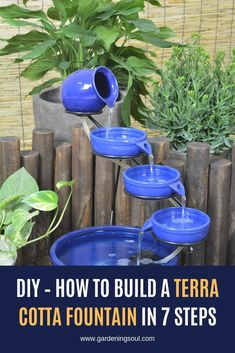 Build A Dog House, Diy Water Feature, Small Flower Pots, Diy Fountain, Indoor Water Fountains, Terracotta Flower Pots, Natural Homes, Terra Cotta, Garden Projects