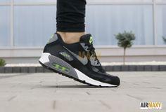 "#NikeAirMax90 GS ""Black Flash Lime"" #nike #airmaxydamskie"