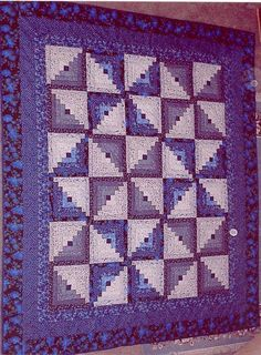 log cabin quilt. Love the purple.