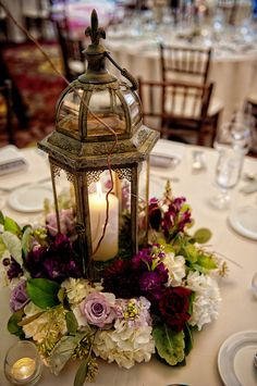 81 romantic rustic wedding lanterns page 31 Lantern Centerpiece Wedding, Wedding Lanterns, Lanterns Decor, Wedding Table Centerpieces, Flower Centerpieces, Wedding Decorations, Rustic Lanterns, Graduation Centerpiece, Quinceanera Centerpieces