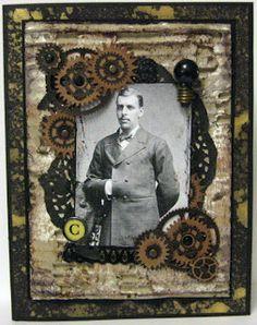 Steampunk themed card