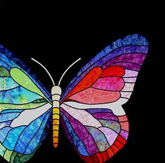 Butterfly stained glass at Kiki Quilts