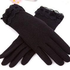 Cashmere Gloves - Black