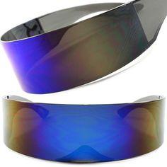 Space Age Alien Robot Transformers Costume Cosplay Futuristic Visor Sun Glasses