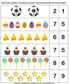 Spring Count and Clip Cards: Numbers Letter Worksheets For Preschool, Preschool Writing, Numbers Preschool, Kindergarten Math Worksheets, Preschool Learning Activities, Learning Numbers, In Kindergarten, Preschool Charts, Math For Kids