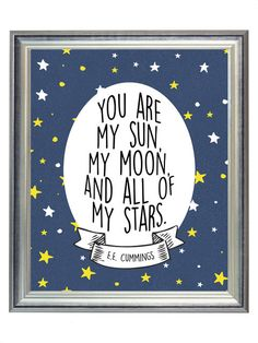 DIGITAL You Are My Sun, My Moon, & All of My Stars Outer Space Nursery Print…