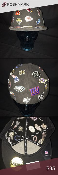 New Era NFL Fitted Hat NWT New Era 59Fifty NFL Fitted Hat. Brand new never worn. Size 7 5/8. Hat has all team logos stitched in. Retail price is $59.99. New Era Accessories Hats