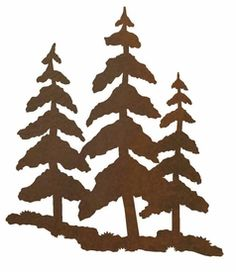 8 Pine Trees Metal Wall Art Walls Tree Cricut