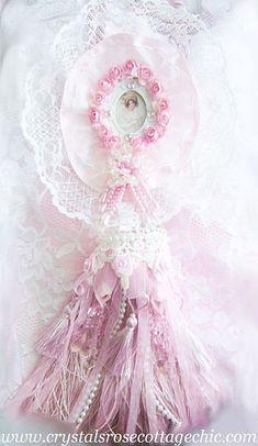 Romantic Pink Crystal Victorian Tassel
