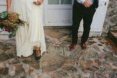 Zapatos verdes para novia