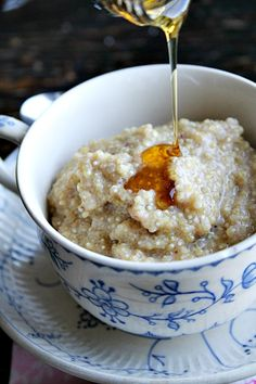 Quinoa Pudding with maple and cinnamon #breakfast