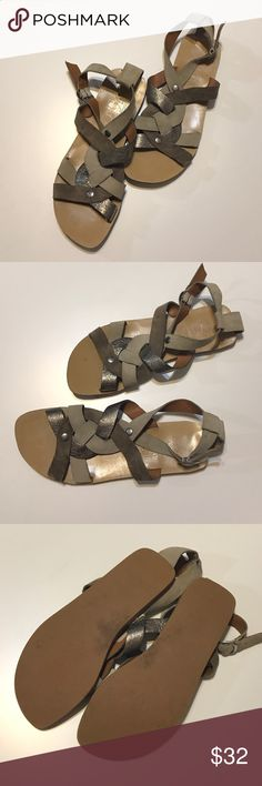 Nine West tan sandals Vintage America collection by Nine West.  Leather upper and very comfortable.  GUC.  Bundle for best deals. Nine West Shoes Sandals