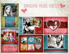 SENDING HUGS VALENTINES CARDS by sarah gourdie