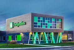 BRAND NEW brilliant building! Check out Caisse Desjardins de D'Autray by Lachance et Associés. Quebec's newest brilliant building features VIVIX solid phenolic facade. #brilliantbuildings #facade #design #innovation #colour #architecture #exteriors #architect #architecturaleyecandy