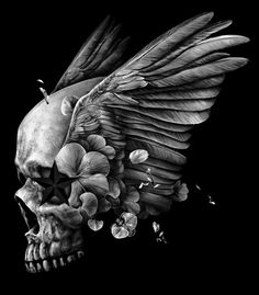 """Dark Skull"" for t-shirt design by Eddie Yau Glitch Art, Skull And Bones, Art Prints, Skull Artwork, Skull, Skull Art, Beautiful Fantasy Art, Photoshop Painting, Dark Art Drawings"