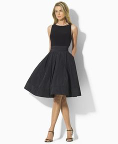 Lauren by Ralph Lauren Dress, Pleated Cocktail Dress - Womens Dresses - Macy's