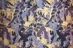 Raoul Dufy textile design via The Humanities Exchange, Montreal, Canada