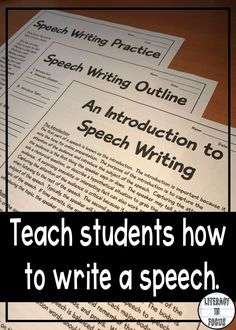Introduction To Speech Writing Text Speech Outline  Speech
