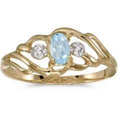 10k Yellow Gold Oval Aquamarine And Diamond Ring (CM-RM908-03) (3,495 MXN) ❤ liked on Polyvore featuring jewelry, rings, oval aquamarine ring, yellow gold diamond rings, gold diamond jewelry, diamond jewelry and yellow gold aquamarine ring