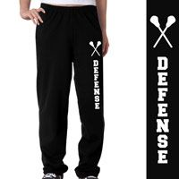 Lacrosse Defense Fleece Sweatpants - Our super comfortable fleece sweatpants are made from an extra-soft ring spun cotton blend for a softer feel and a no-pill performance.