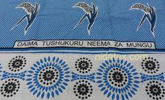 We should always thank God for his bounties - translation for  a Swahili saying / phrase on a  Nida Nzito khanga.  #khanga #sayings