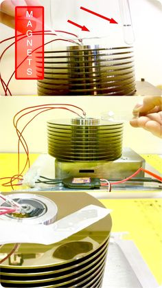 Magnetic Levitation with spinning hard drive platters and magnets. . . Lenz's Law Demo. . . BLDC motor control with an ESC.   .  . . ..Click Here to Subscribe: https://www.youtube.com/user/KGittemeier?sub_confirmation=1