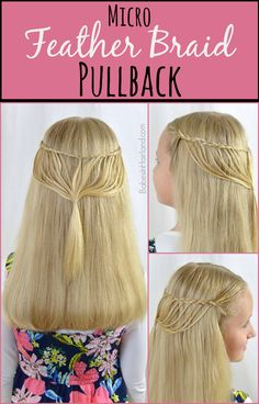 Micro Feather Braid Pullback from BabesInHairland.com #featherbraid #braids #hairstyles