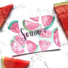 So schmeckt der Sommer! watercolor melons | summer