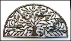 Birds Metal Wall Hanging - Haitian Recycled Steel Drum - $64.95 -  Steel Drum Metal Art from  Haiti - Interior or Garden Décor   * Found at  www.HaitiMetalArt.com