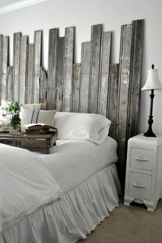 #DIY #Reclaimed Wooden Headboard!~~ Let's follow each other and share all the great interesting stuff we all love.~~ Christy Tusing Borgeld