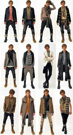 brands we could add in include Second Sunday, Affliction, Arc… - MEN CLOTHES Mode Outfits, Fall Outfits, Fashion Outfits, Fashion Ideas, Fashion Clothes, Men Clothes, Pirate Clothes, Guy Outfits, Fashion Shirts