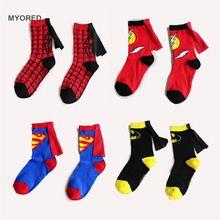 3 a 6 Anos crianças meias Superman batman flash manto meias de algodão em meias tubo crianças boys & girls festa de dança cosplay meias(China (Mainland))