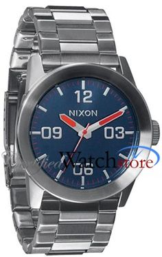 Nixon A276307-00 Watch Private SS Mens - Blue Dial Stainless Steel Case Quartz Movement