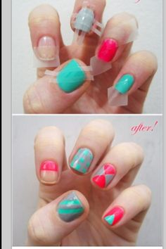 Cool easy way to do your nails when your bored!
