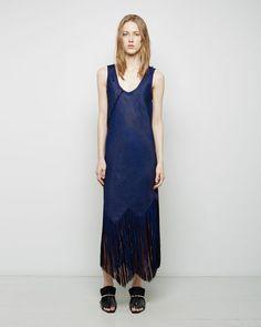 Proenza Schouler   Basket Weave Fringe Dress   La Garçonne