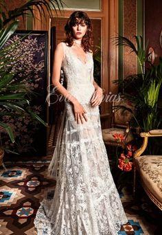 Vestido de novia Modelo Edril. Yolancris colección 2017 en Eva Novias Madrid.