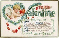 Image result for vintage valentines postcards