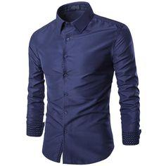 New Fashion Shirt Mens Casual Long Sleeve Business Shirt